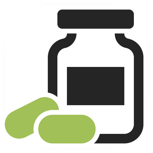 Bottle Of Pills Icon