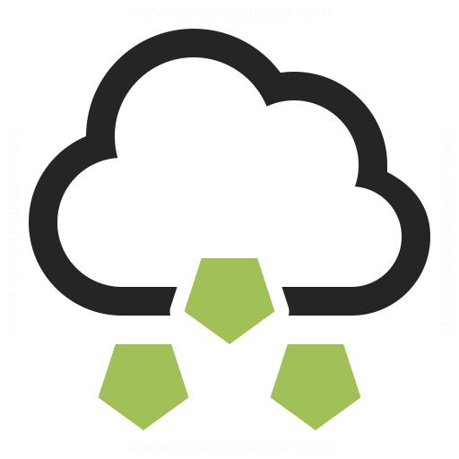 Cloud Hail Icon