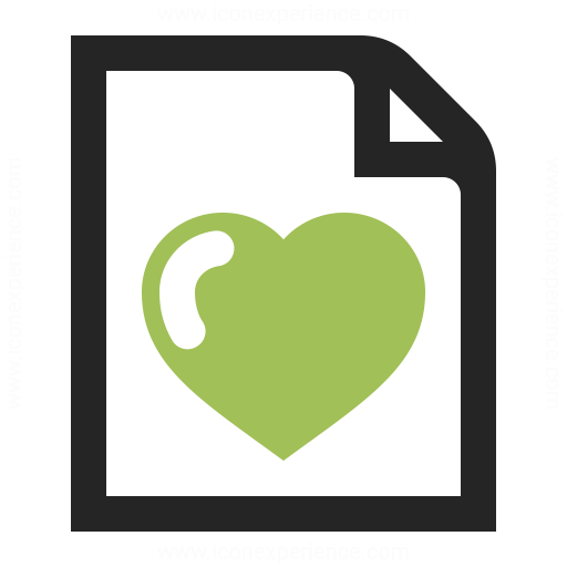 Document Heart Icon