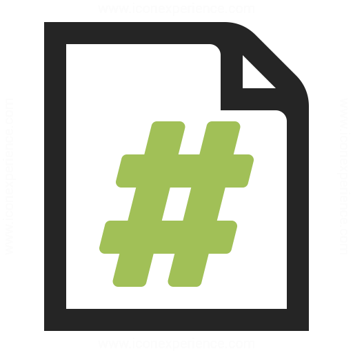 Document Page Number Icon