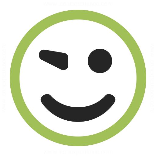 Emoticon Blink Icon