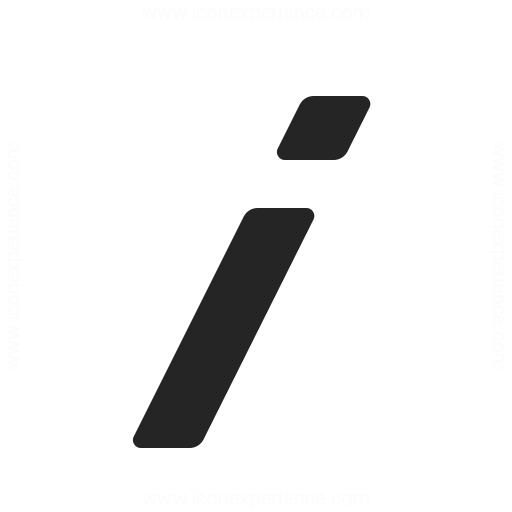 Font Style Italics Icon