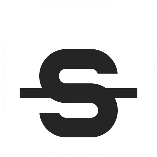 Font Style Strikethrough Icon