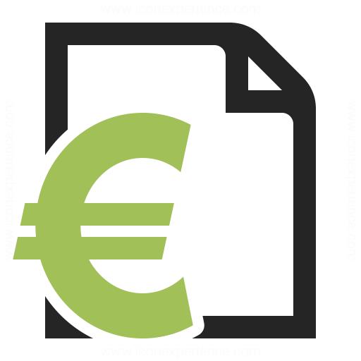 Invoice Euro Icon