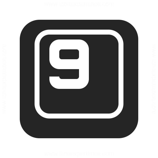 Keyboard Key 9 Icon