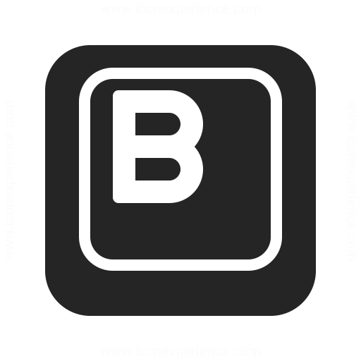 Keyboard Key B Icon