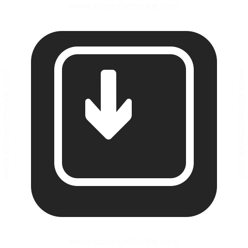 Keyboard Key Down Icon