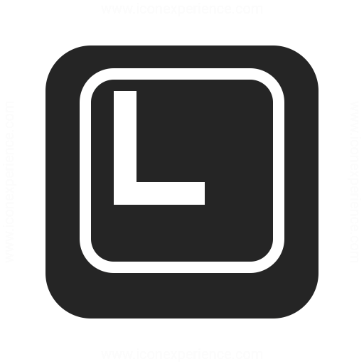 Keyboard Key L Icon