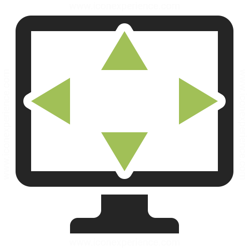 Monitor Size Icon