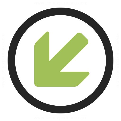 Nav Down Left Icon