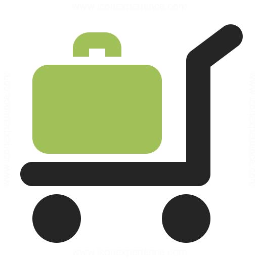 Platform Truck Suitcase Icon