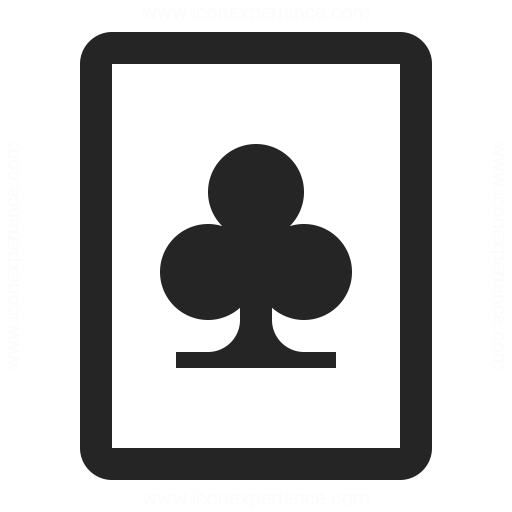 Playing Card Clubs Icon
