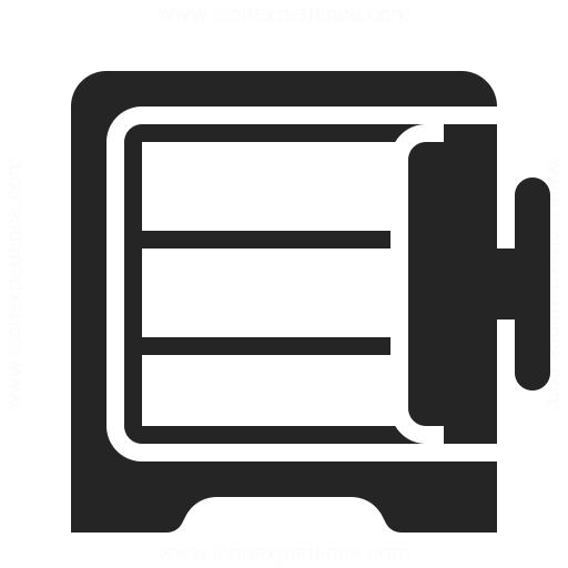 Safe Open Empty Icon
