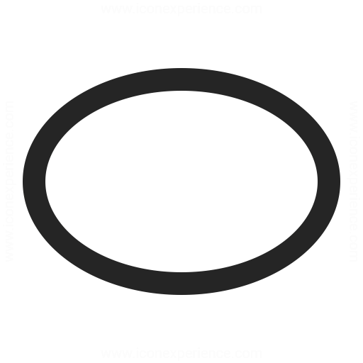 Shape Ellipse Icon