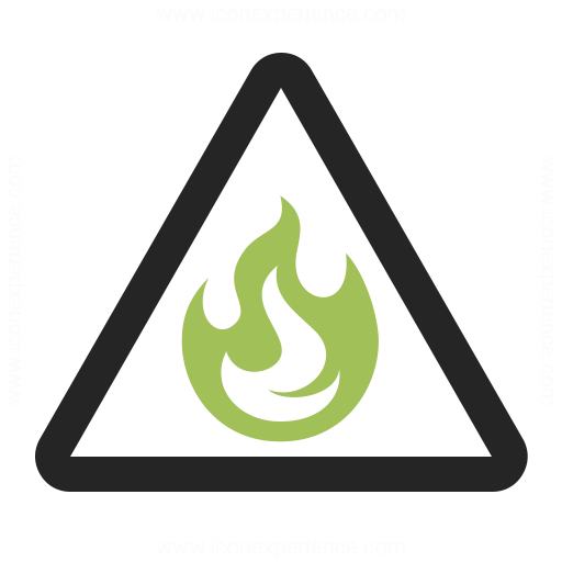 Sign Warning Flammable Icon