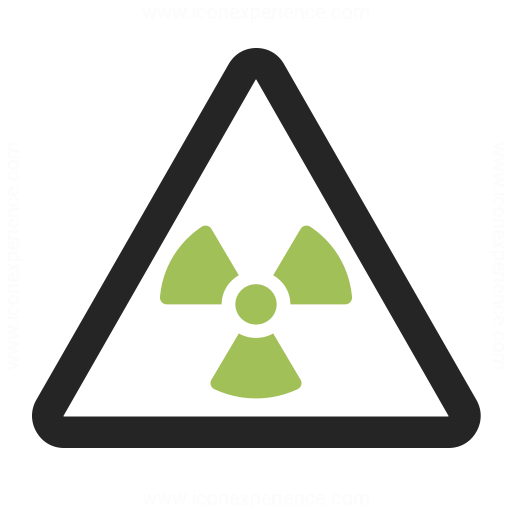 Sign Warning Radiation Icon
