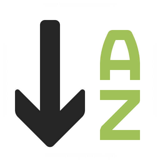 Sort Az Descending Icon