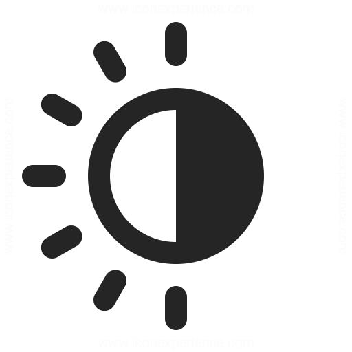 Sun Half Icon