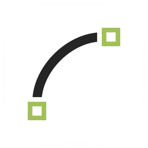 Vector Curve Quadratic Icon