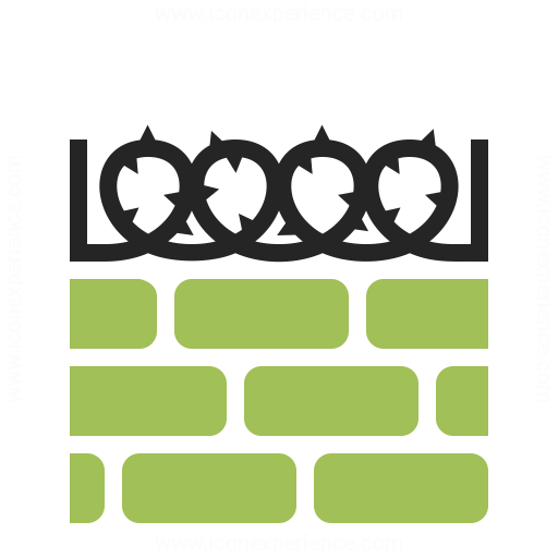 Wall Barbed Wire Icon