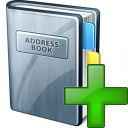 Address Book Add Icon 128x128