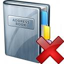 Address Book Delete Icon 128x128