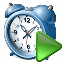 Alarmclock Run Icon 128x128