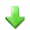 Arrow 2 Down Green Icon 128x128