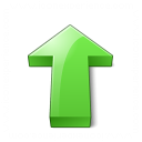 Arrow 2 Up Green Icon 128x128