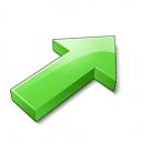 Arrow 2 Up Right Green Icon 128x128