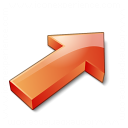 Arrow 2 Up Right Red Icon 128x128