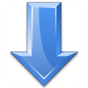 Arrow Down Blue Icon 128x128
