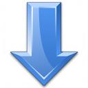 Arrow Down Blue Icon 128x128