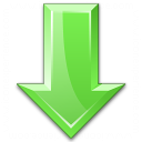 Arrow Down Green Icon 128x128