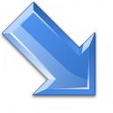 Arrow Down Right Blue Icon 128x128