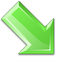 Arrow Down Right Green Icon 128x128