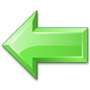Arrow Left Green Icon 128x128