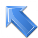 Arrow Up Left Blue Icon 128x128