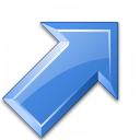 Arrow Up Right Blue Icon 128x128