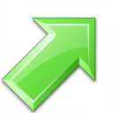 Arrow Up Right Green Icon 128x128