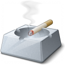 Ashtray Cigarette Icon 128x128