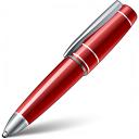 Ballpen Red Icon 128x128