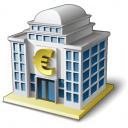 Bank House 2 Euro Icon 128x128