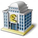 Bank House 2 Pound Icon 128x128