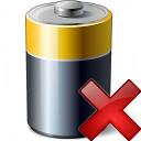 Battery Delete Icon 128x128
