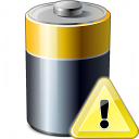 Battery Warning Icon 128x128