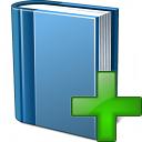 Book Blue Add Icon 128x128