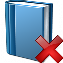 Book Blue Delete Icon 128x128
