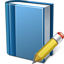 Book Blue Edit Icon 128x128