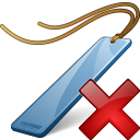 Bookmark Blue Delete Icon 128x128
